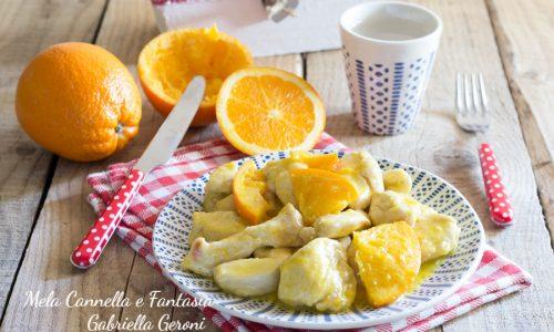 Bocconcini di pollo cremosi all'arancia ricetta facile