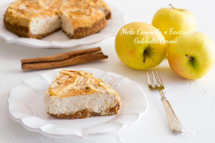 cheesecake mele e cannella
