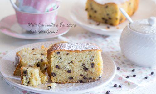 Plumcake morbido alla ricotta con gocce di cioccolato