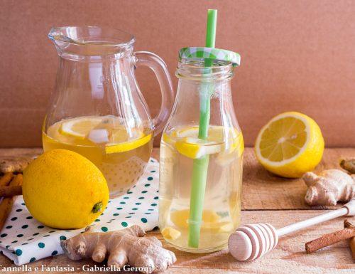 Zenzero e limone tisana fatta in casa facile e veloce