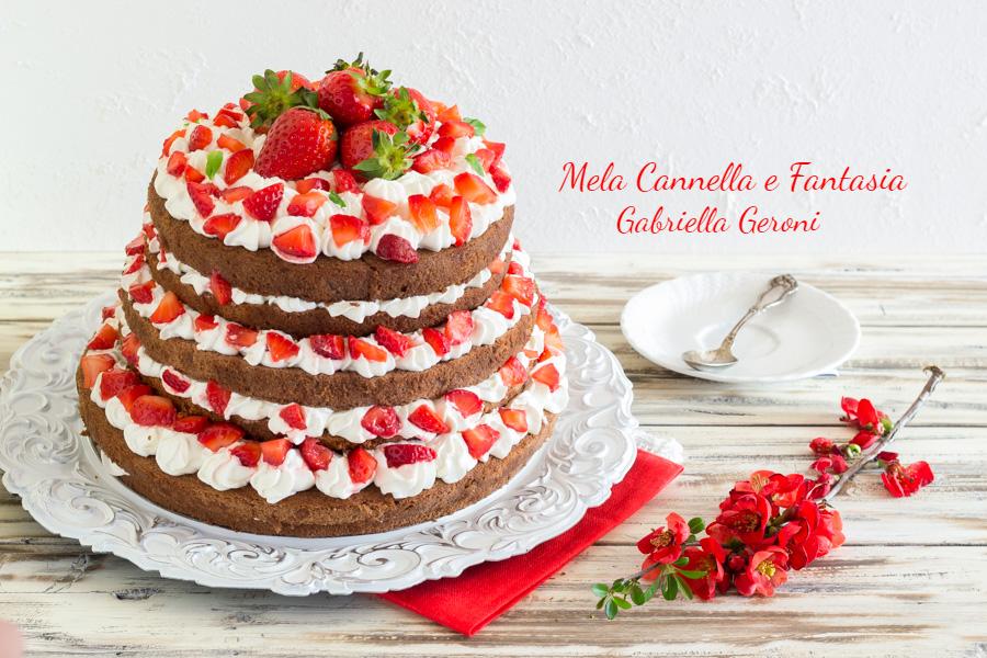 torta al cacao con fragole