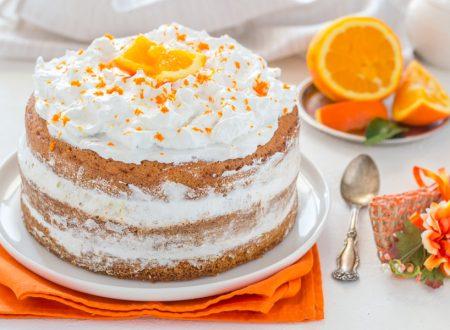 Torta con crema all'arancia ricetta senza pan di spagna