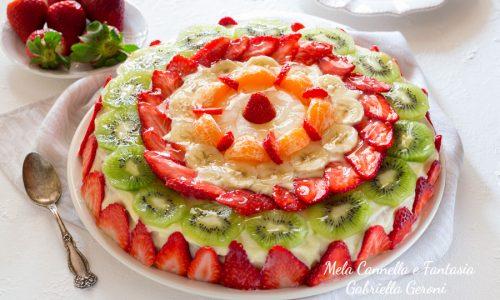 Torta di frutta fresca con crema pasticcera ricetta di famiglia