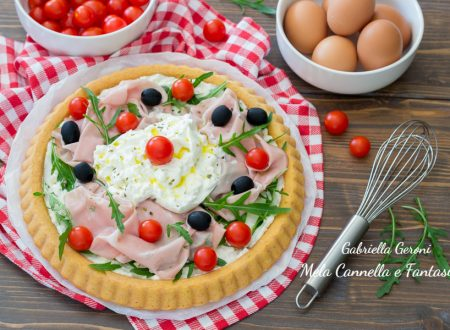 Crostata morbida con mortadella e burrata