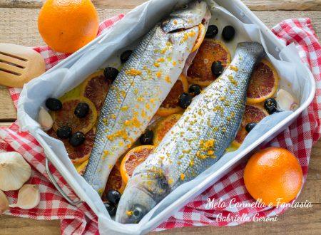 Spigola con arancia e olive nere ricetta light e gustosa