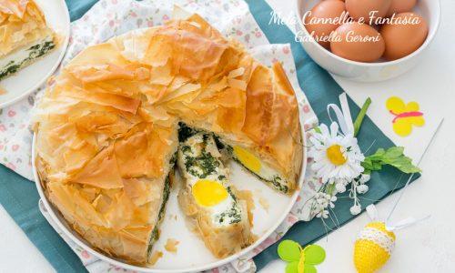 Torta Pasqualina di pasta fillo più leggera e croccante