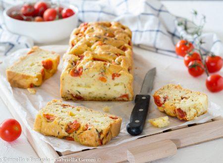 Plumcake provolone e pomodorini facile veloce e sfizioso