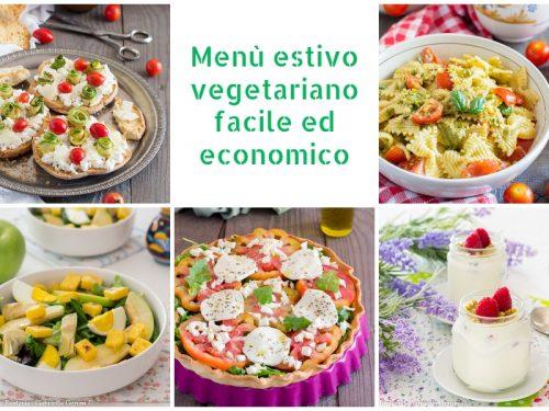 Menù estivo vegetariano facile ed economico