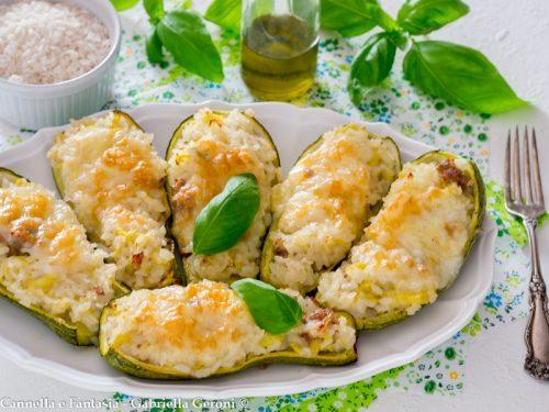Zucchine ripiene gratinate al forno gustosissime