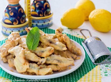 Alici in pastella aromatizzate al limone croccanti e profumate
