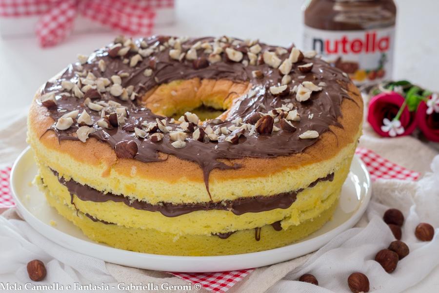chiffon cake con nutella