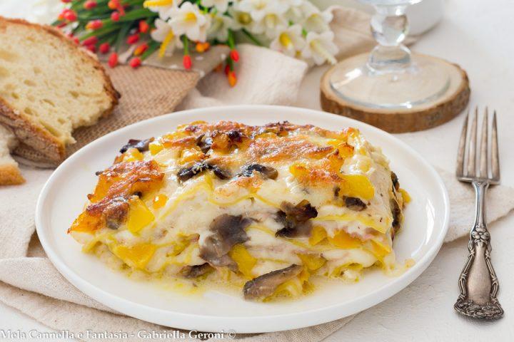 lasagne funghi peperoni