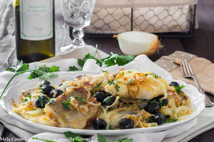 baccalà in bianco con olive
