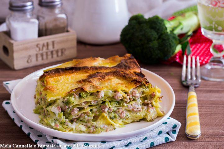 lasagna bianca broccoli e salsiccia