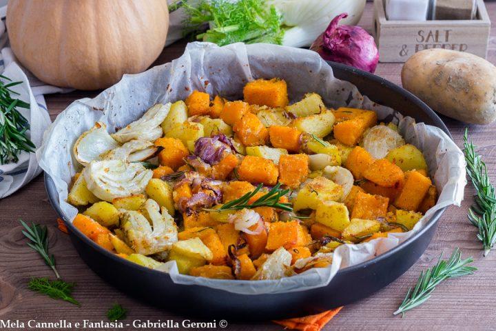 zucca patate e finocchi gratinati