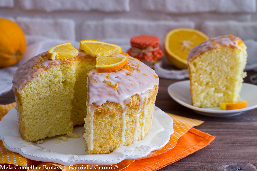 chiffon cake all'arancia