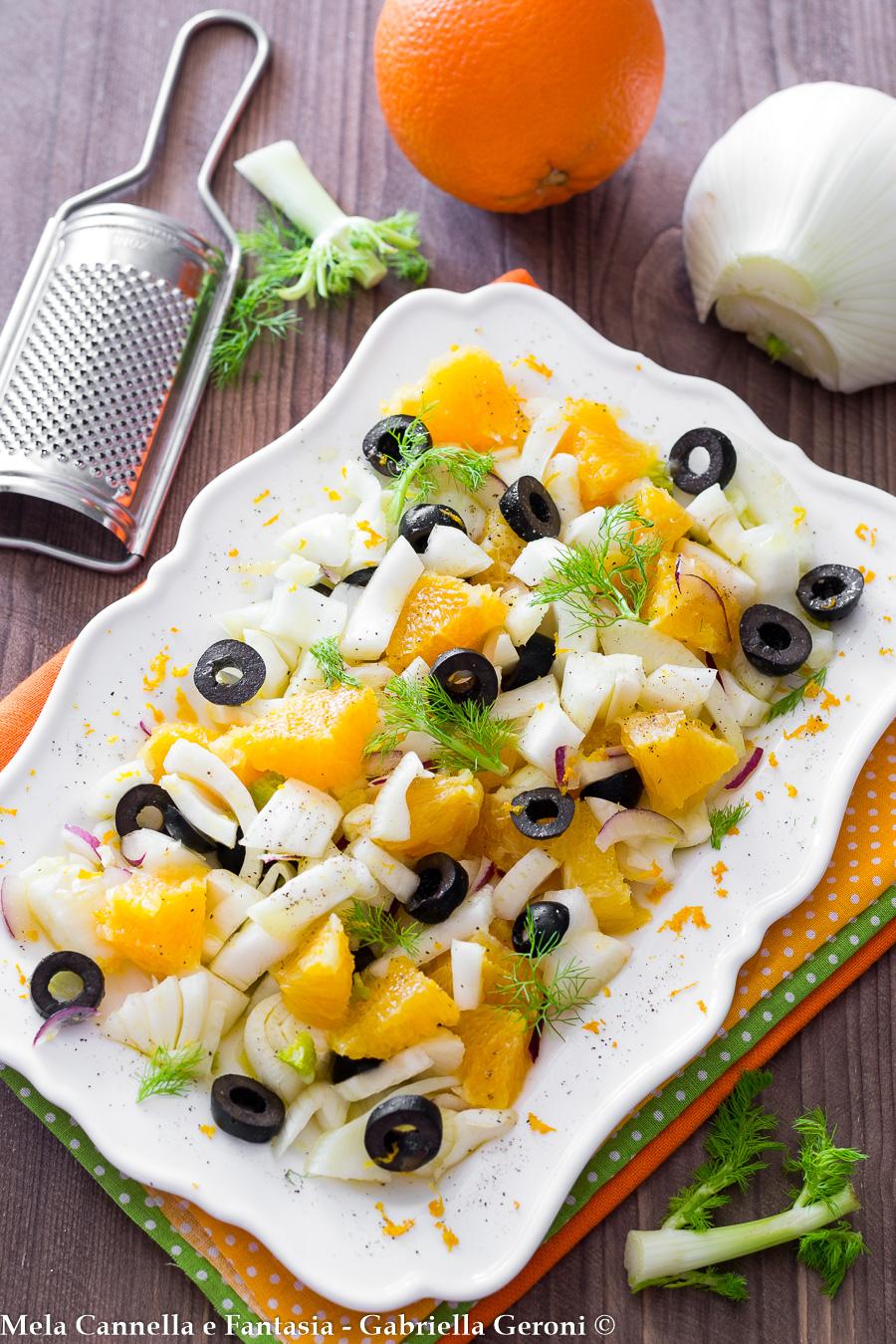 finocchi arancia e olive insalata