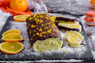 rotolo con crema all'arancia
