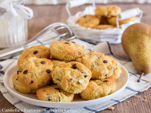 Biscotti alle pere e cioccolato morbidi e golosissimi