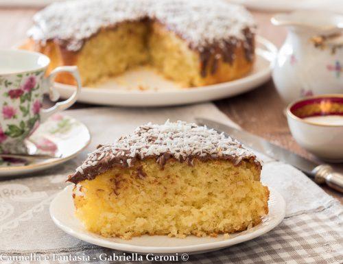 Torta cocco e Nutella morbidissima ricetta senza burro