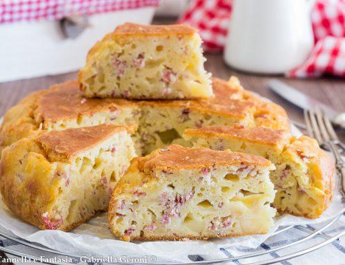 Torta salata con provolone e salame facile e veloce