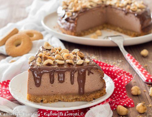 Cheesecake cotta alla Nutella con nocciole tostate