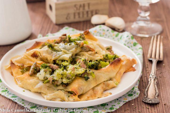crepes broccoli e salsiccia
