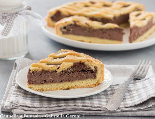Crostata con crema di mascarpone al cacao aromatizzata al Rum