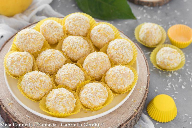 Tartufini al limone ricetta senza cottura