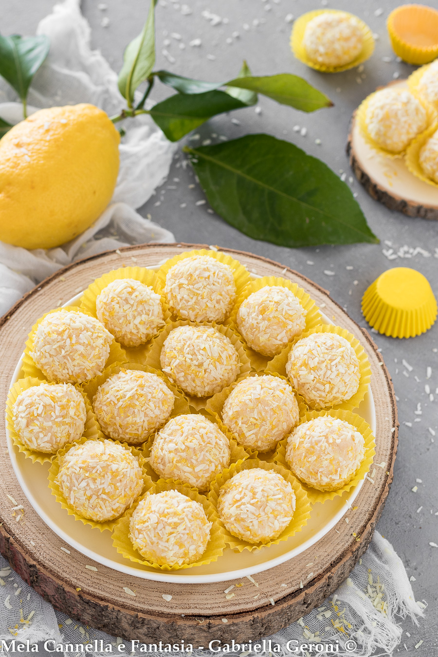 tartufini al limone senza cottura