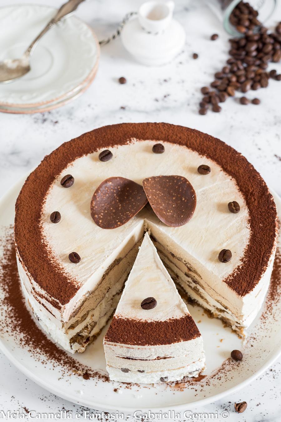 torta semifreddo panna e caffè