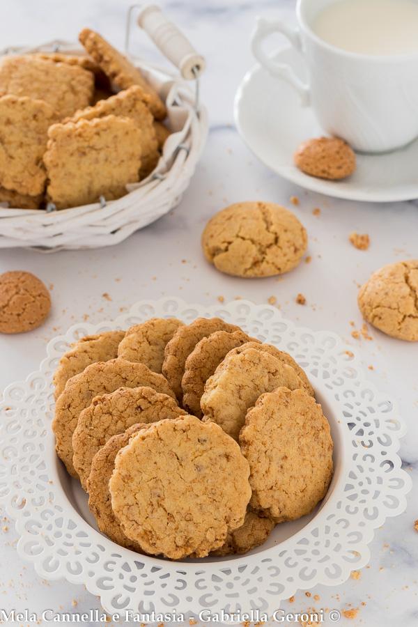 biscotti agli amaretti senza burro