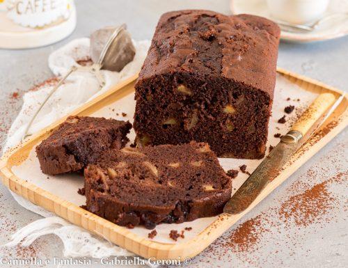 Plumcake al cacao e mele morbidissimo senza burro e senza latte