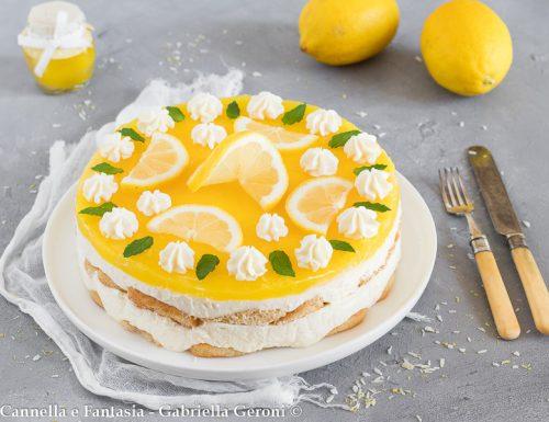 Torta fredda al limone facile golosa e senza cottura