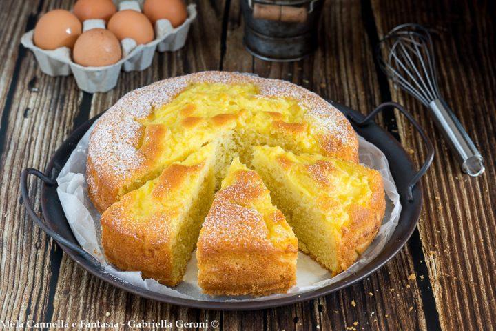 torta con crema nell'impasto