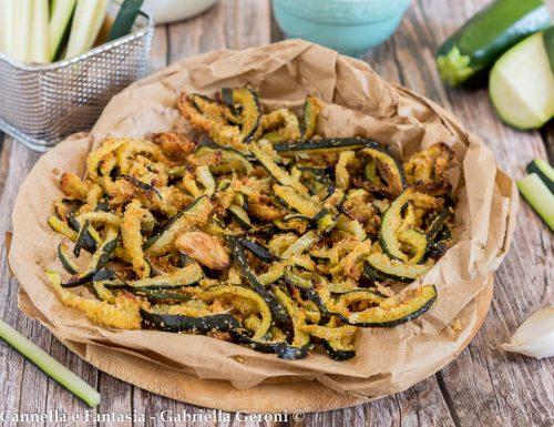 Zucchine al forno con pangrattato al rosmarino gustosissime