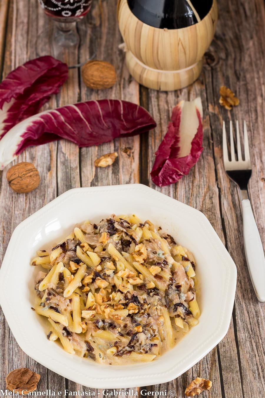 pasta gorgonzola radicchio noci