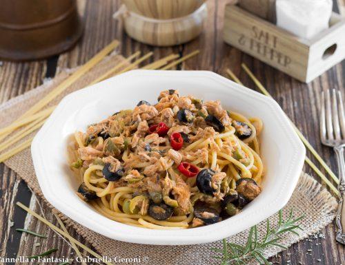 Spaghetti alla zingara ricetta veloce con tonno capperi e acciughe