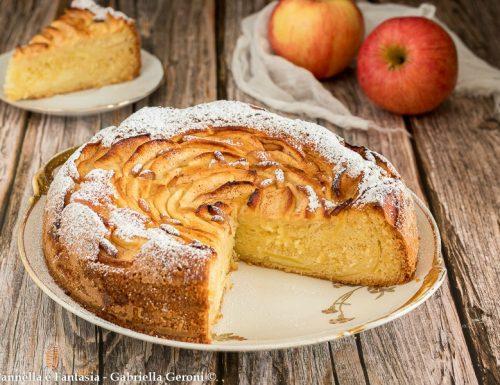 Torta soffice di mele e pinoli senza burro