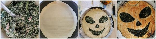 torta salata di halloween