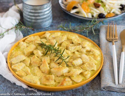 Bocconcini di pollo al latte e curry ricetta facile e veloce