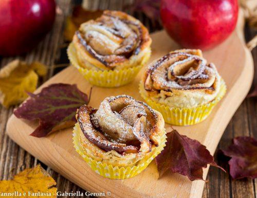 Rose di mele con pasta sfoglia dolce facile e veloce