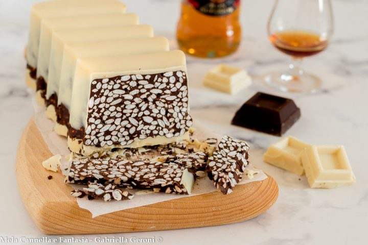 torrone al cioccolato con riso soffiato