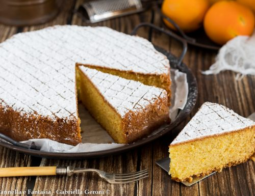 Torta all'arancia morbidissima senza burro e senza latte