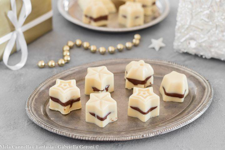 cioccolatini bianchi ripieni di nutella
