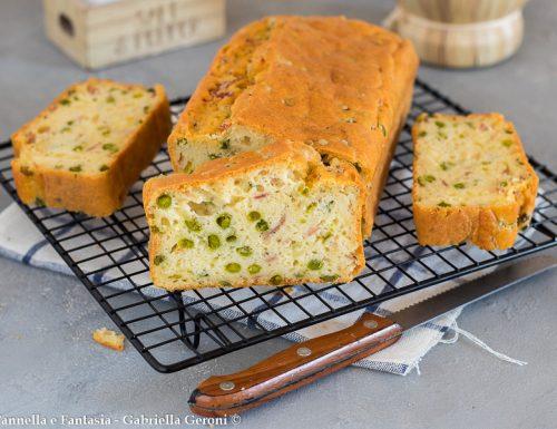 Plumcake piselli prosciutto e formaggio morbido e sfizioso