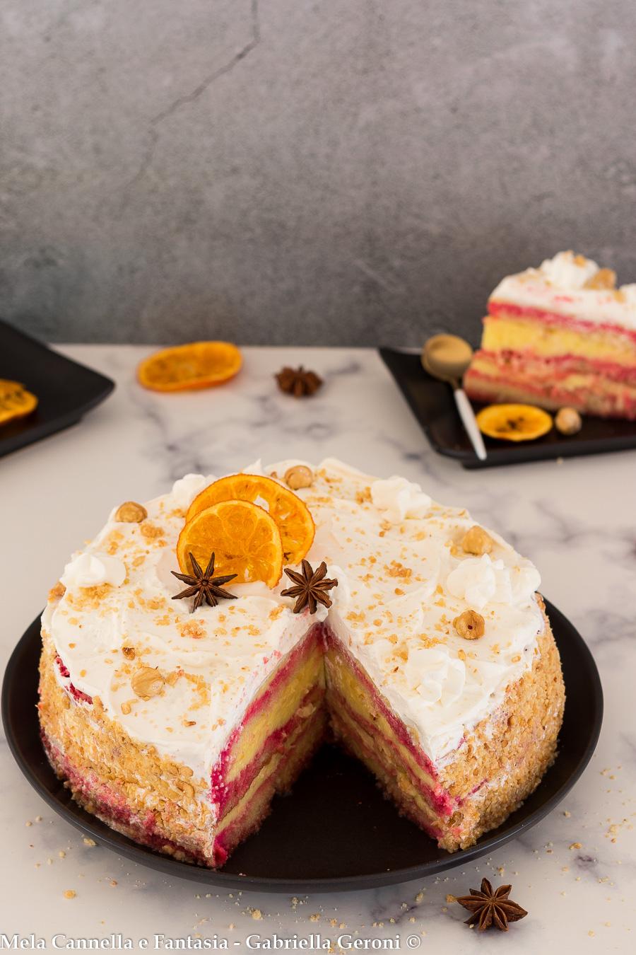 torta crema e nocciole