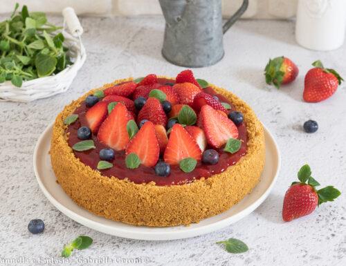 Cheesecake alle fragole cotta in forno