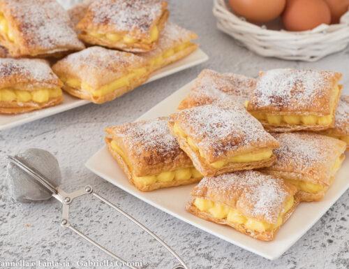 Sfogliatine con crema al limone dolce facile e veloce