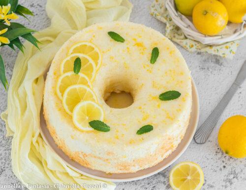 Angel cake al limone con glassa (altissima e sofficissima)